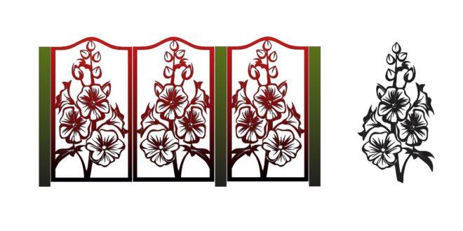 Flowers panel separator pattern screens