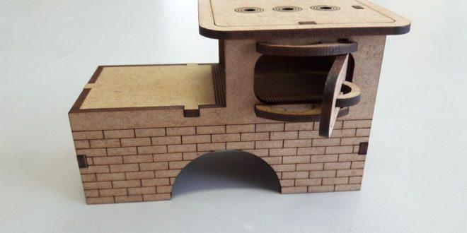 Wood stove miniature laser vector file