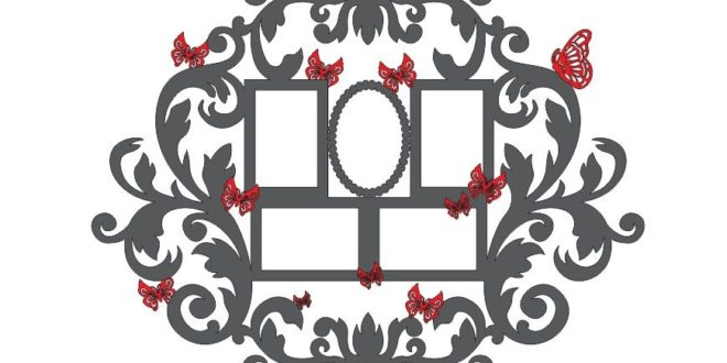Photo frame butterfly