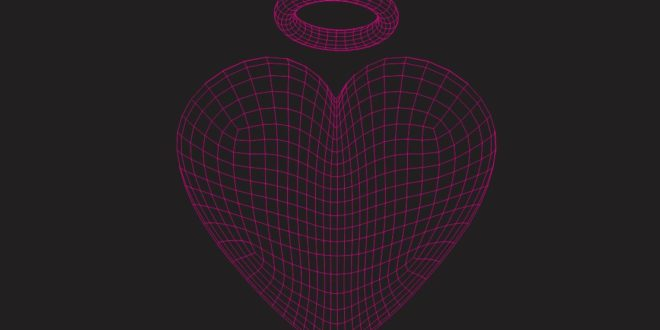 Free Vector 3d Illusion Heart and wedding ring Cutting Acrylic Laser Engraving
