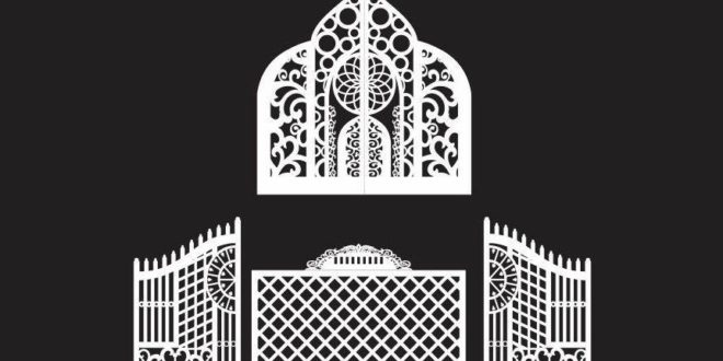 Ornamental and decorated gate vectors cdr dxf cnc router