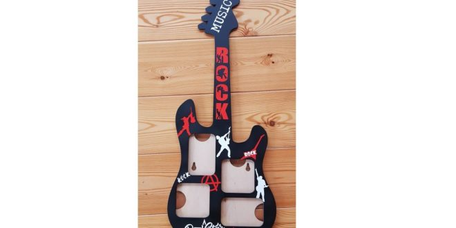 FREE Guitar picture frame photos rock cdr dxf vector