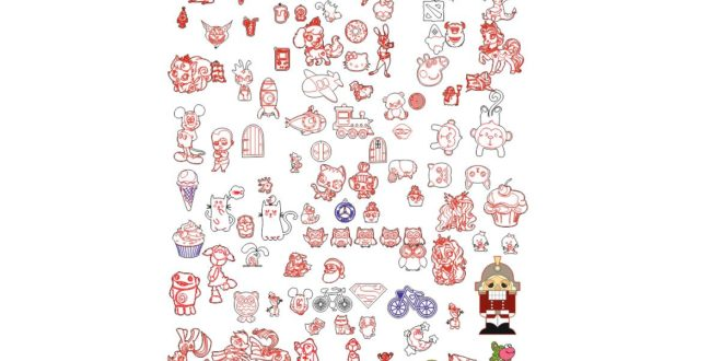 Kids drawings pack cdr file laser cutting and engraving