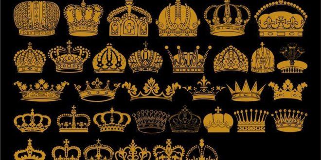 Crowns 2d svg cdr dxf