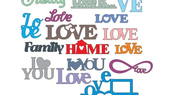 Love home i love you family vectors