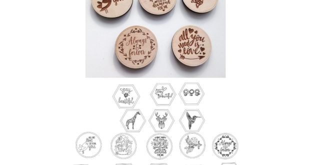 Platelet Engraving Vectors Magnets cdr dxf