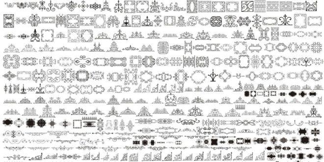Pack +200 ornamental vectors for laser engraving CDR only