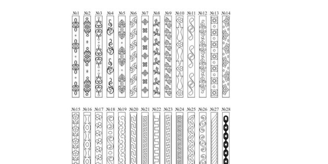 Patterns for cnc router v-bit or laser engraving