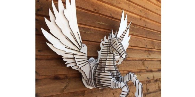 DXF CDR Laser File Pegasus greek mythology winged horse symbol of immortality