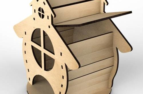 Tea house 3mm vector mdf plywood dxf cdr files download