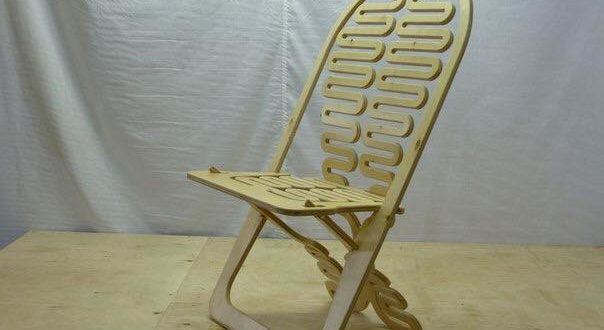 Folding Chair made of birch plywood 18 mm thick