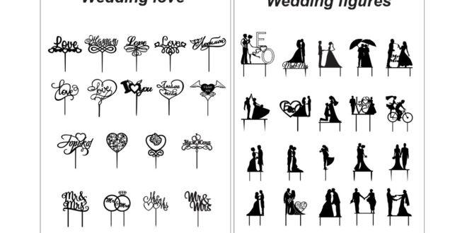 Laser Cut Cake Topper Vectors .CDR Mr & Mrs love marriage wedding matrimony