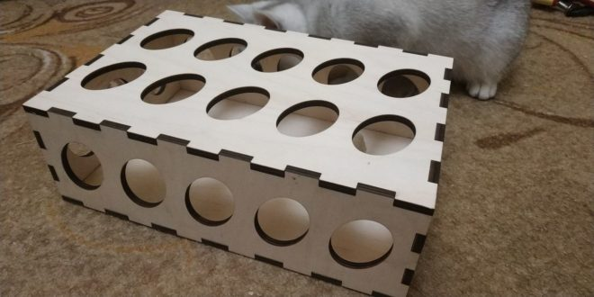 FREE Toy for cat box 6mm cdr dxf vectors