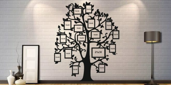 Tree photo panel wall vector cdr dxf file silhouette laser cnc router