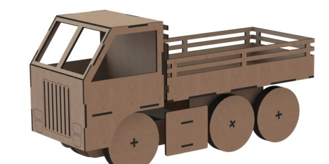 Truck toy cdr dxf files to make wood woodworking plywood mdf