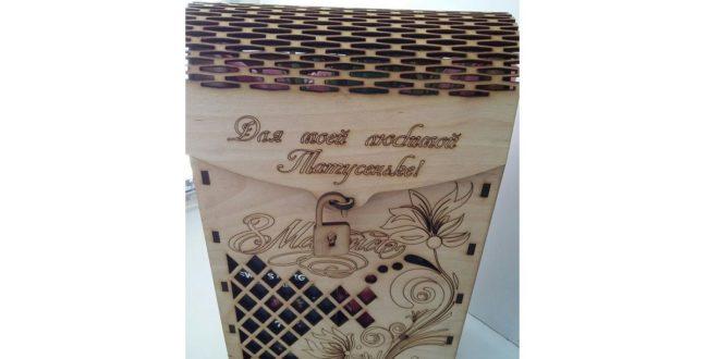 Wine box to laser cut file