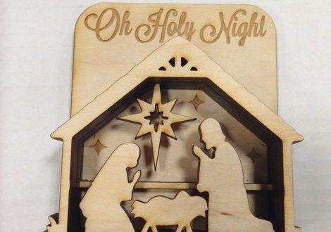 Free presepe Laser Cut Wooden Nativity Scene DXF File