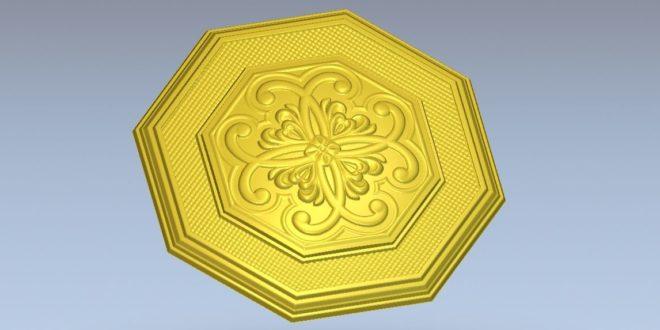 3d Hexagonal decorative plaque