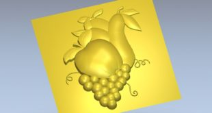 Pear Grape Apple 3d stl file