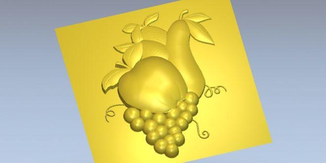 Pear Grape Apple 3d stl file