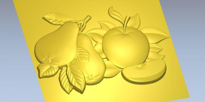 Fruit relief 3d artcam vectric aspire vcarve cut 3d
