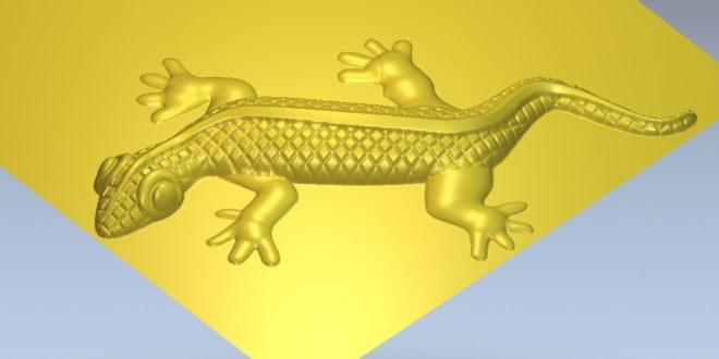 Lizard gecko file relief stl