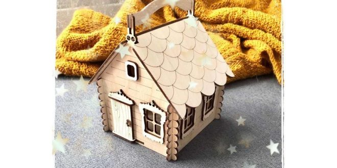 Free House with Handle Candy Box Basket CDR File