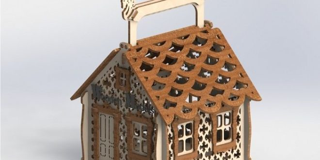 Laser Cut Candy House CDR File
