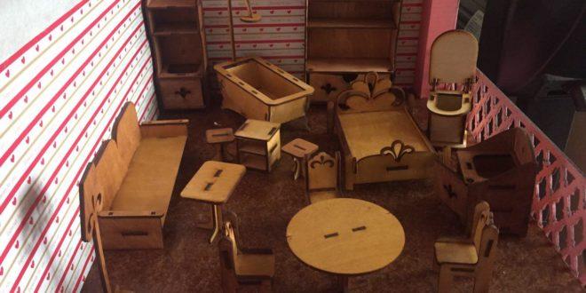 Dollhouse Furniture Miniature Toy kids laser cut CDR File