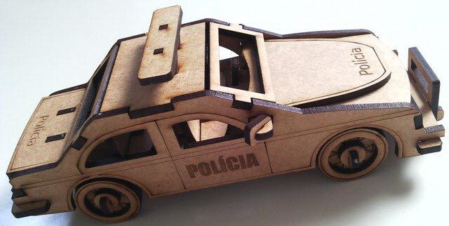 Police car dxf plan download laser cut and engrave