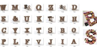 Pack Alphabet 3d letters decoration wedding party CDR File