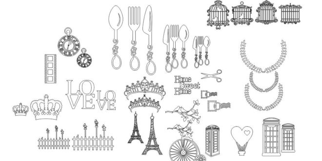 Pack Multiple appliques Silhouettes CDR File