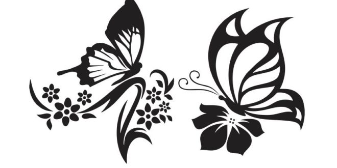 Free butterfly vector 2d cdr dxf