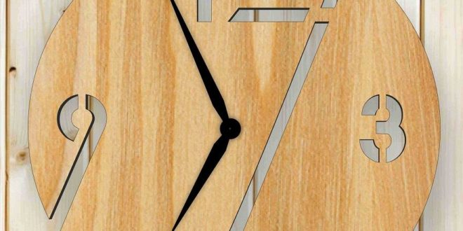 Free simple wall clock dxf file laser cnc router cut