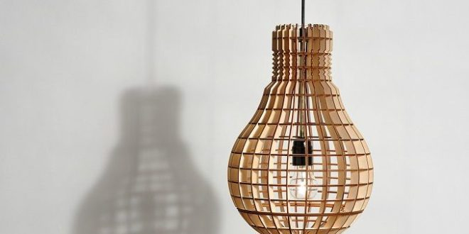 Free 4mm Laser Cut Light Bulb Shape Lamp CDR File