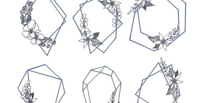 Floral frames 2d CDR File vectors to cut wood sticker