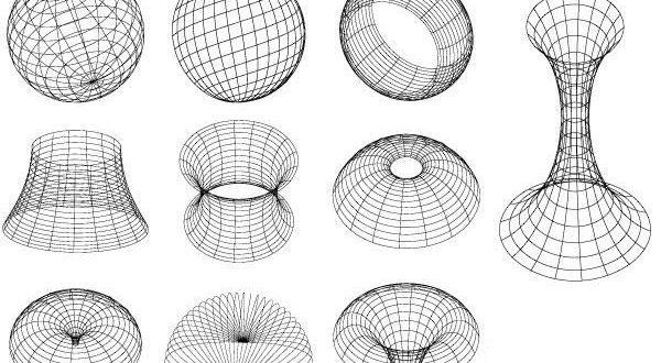 Free 3d illusion geometric models shapes