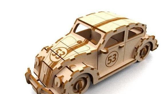 Herbie car dxf laser cut file vector