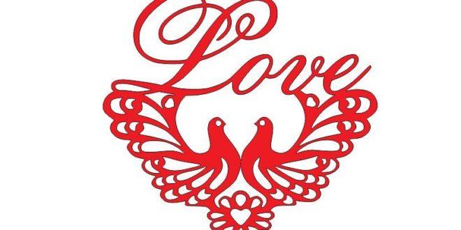 Love pigeons dxf