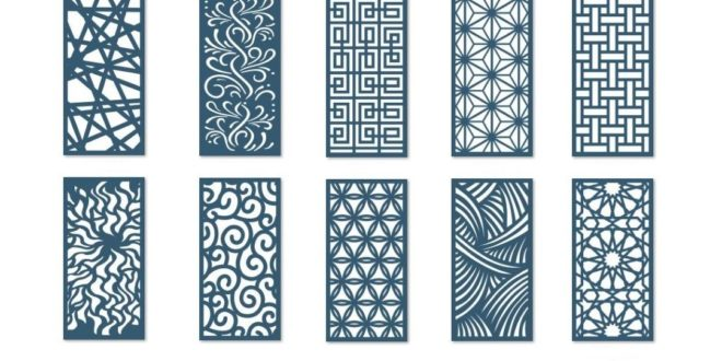 Pack of 10 dxf hollow boards / screens / panels