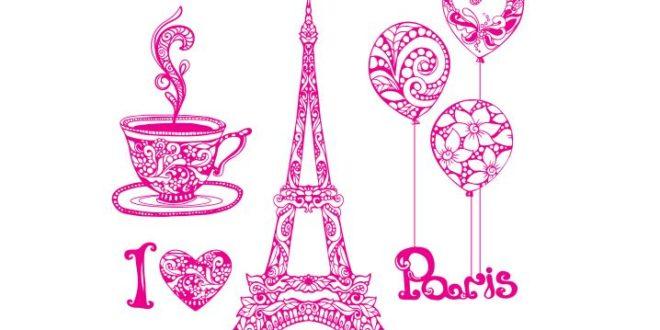 I love Paris Eiffel Tower CDR Corel 12 Vector