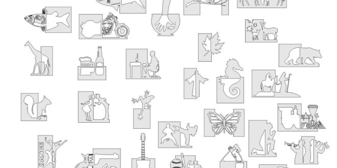 Scroll saw patterns arts cdr dxf vector pack