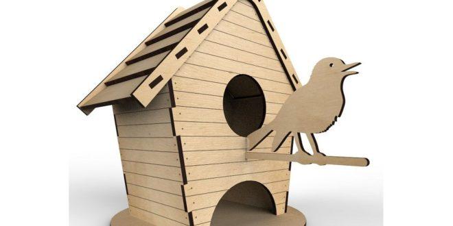 bird house/tea house cdr dxf file