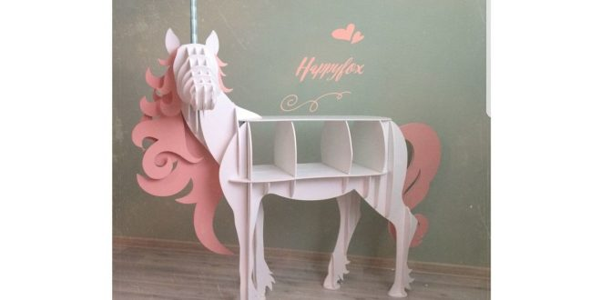 Unicorn shelf plywood mdf dxf cdr files
