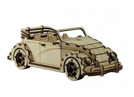 Laser Cut VW Fusca Cabriolet CDR Vector