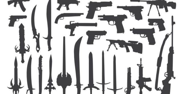Free Cdr Design Art Silhouette Gun Stencil Weapon