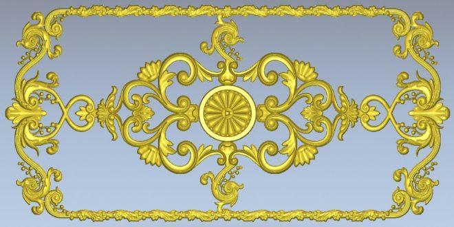 Floral decoration stl 3d relief 1180