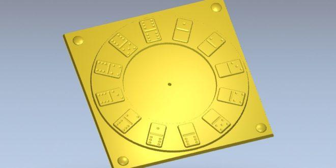 3D StL Clock Domino 3d print cnc router relief 1182