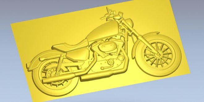 3D Relief Motorcycle 3D Print File Cnc Router 1183