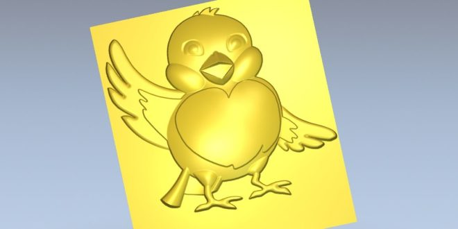 Chick Relief 3d stl file 1193